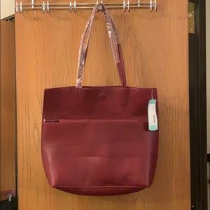 NWT Maroon Bag w/matching clutch
